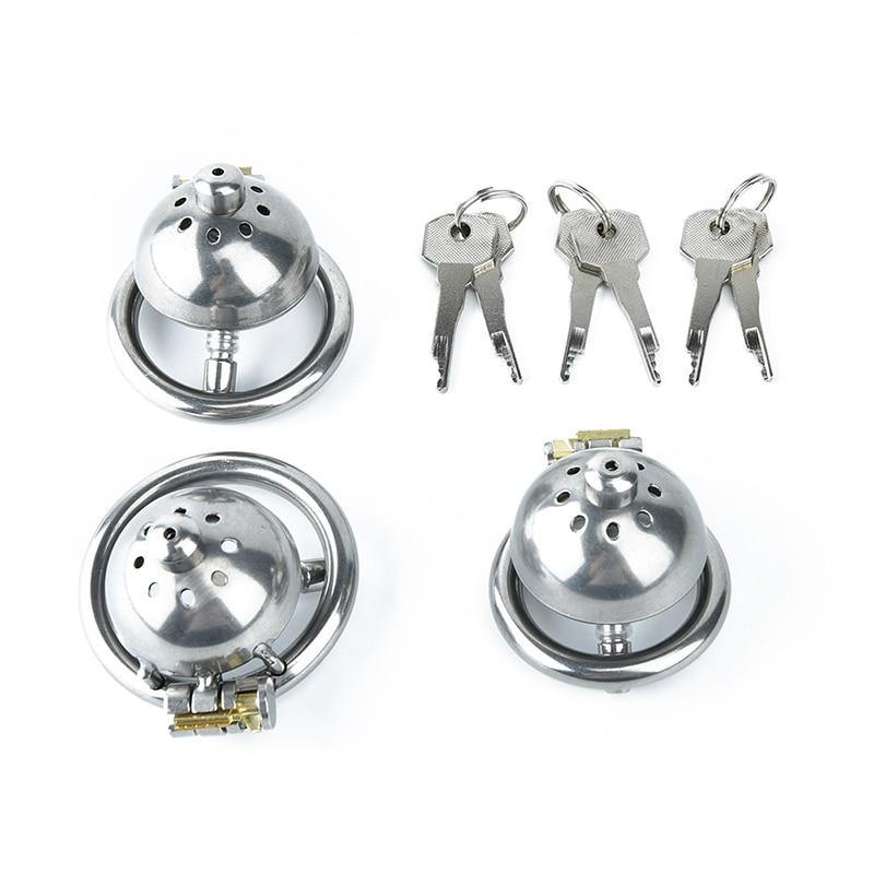 3Sizes Prison Bird 304 stainless steel Male Chastity Cock Cage with Stealth lock Ring
