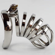 40/45/50mm Lockable Penis Lock Stainless Steel Cock Cage Penis Metal Ring