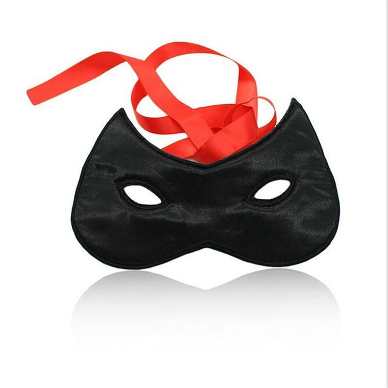 Adult Games Fetish Satin Ribbon Blindfold Mask Sexy Eye Mask Flirt Bondage Masque Mask Halloween Party Mask Sex Toys for Woman
