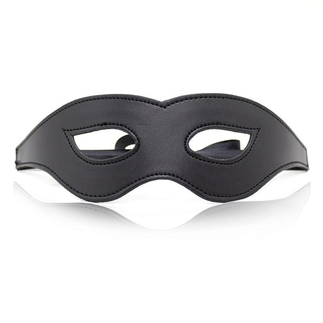 Black Leather Sexy Blindfold Eye Mask Role CosPlay Costumes Bdsm Flirt Sex Toys For Women PRODUCT For Adult Game Couple Exotic