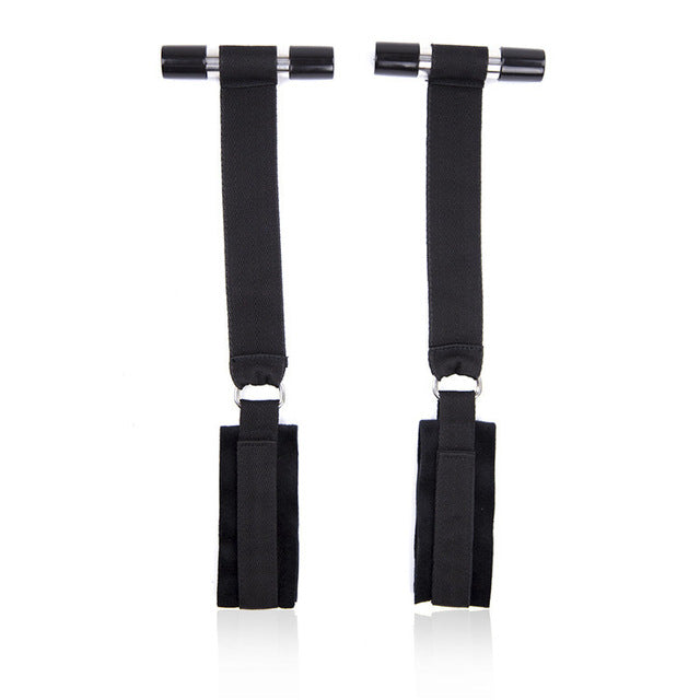 Bondage Boutique Soft Over-The-Door Handcuff Straps Sex toys For Couple
