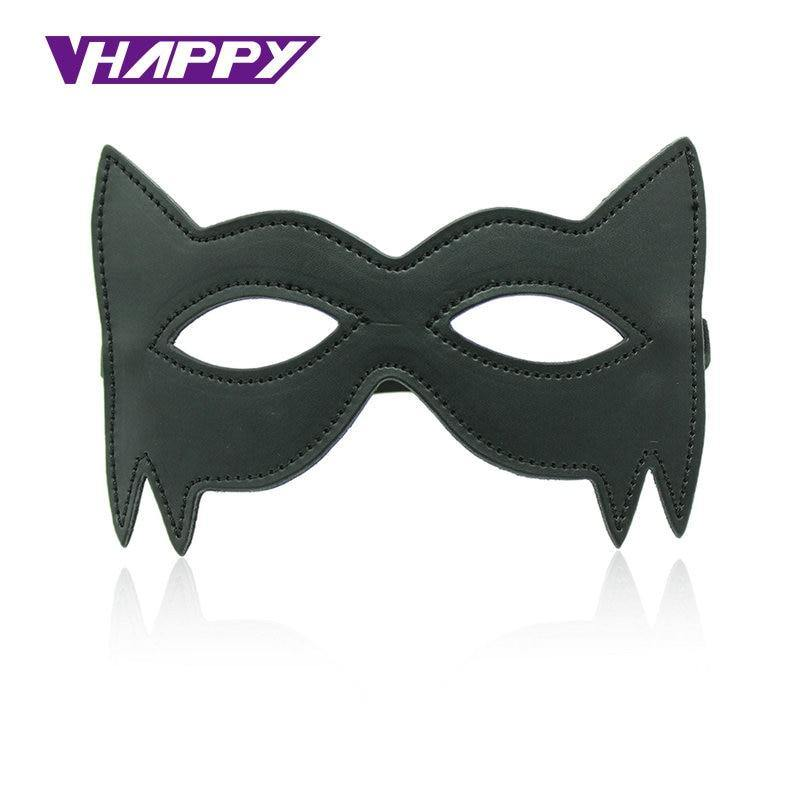 Cheap Leather Blindfold Sexy Eye Mask Bondage Masque Mask Sex Aid Party Fun Flirt Sex Toys For Couple Mask Women VP-EM008026A
