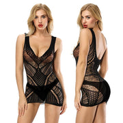 Sexy lingerie sexy Babydolls costumes hollow nightwear intimates half slip Backless