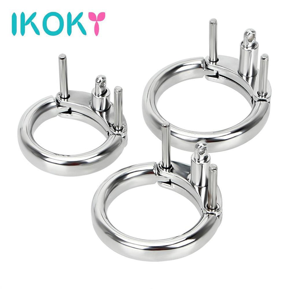 Male Penis Lock Additional Cock Ring 3 Size Choose Chastity Device Restraint