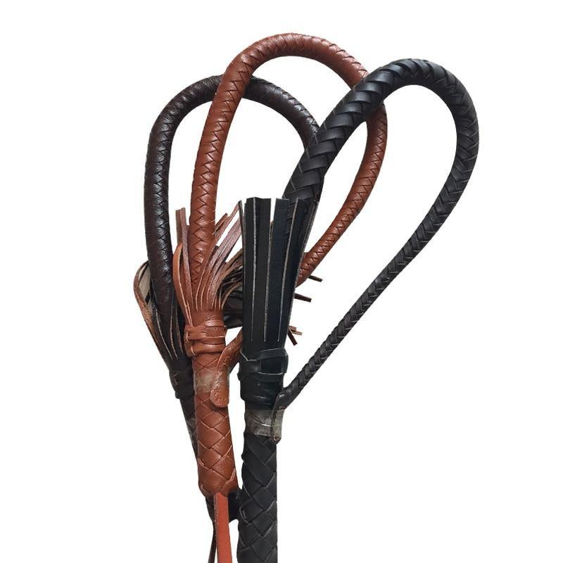 Hand Made Braided Riding Whips for Horse Racing Genuine Bull Leather