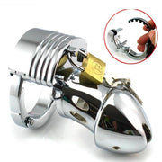Male Chastity Device Metal Chastity Cage With Adjustable Cock Ring Penis Lock