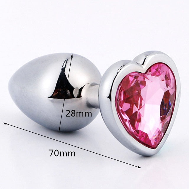 Metal Crystal Butt Plug Sex Toy