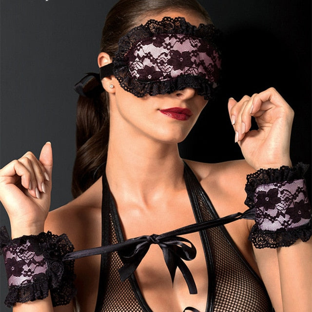 New Babydoll Sexy Lingerie Woman Erotic Lingerie  Lace Mask Blindfolded Patch Handcuffs Erotic Sex Costumes  Adult Sex Games-20