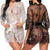 Erotic Babydoll See-through Lace Ruffles Robe Sleepwear Lingerie for Women
