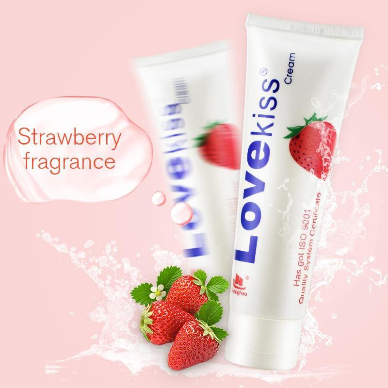 Sex Lubricant Lube Cream Anal Sex Love Kiss Strawberry Massage Oil