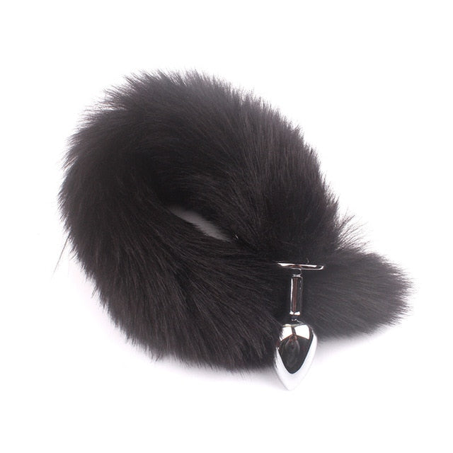 Soft Wild Anal Plug Metal Fox Tail Butt Plug