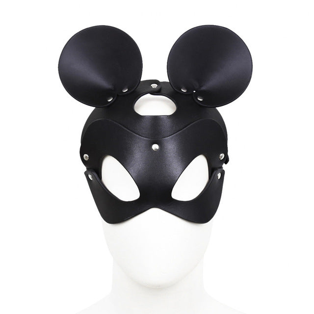 Sexy Shop New PU Leather Eye BDSM Mask Adult Games Carnival Ball Party Cosplay Dog Mask Bondage Hood Fetish Sex Toys For Couples