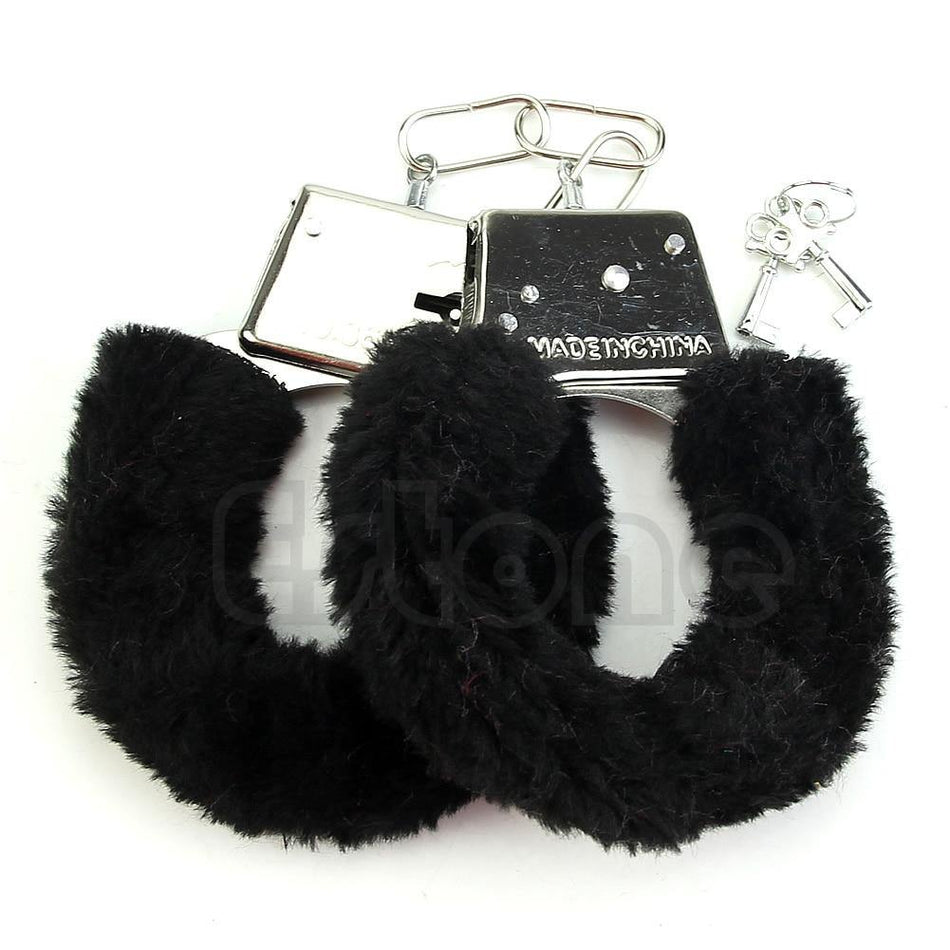 Soft Metal Sexy Furry Fuzzy Handcuffs Stylish Adult Hen Night Party Game Gift
