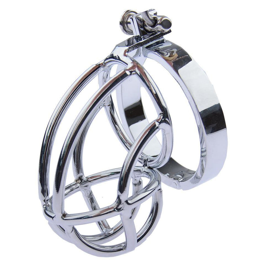 Stainless Steel Penis Rings Chastity Cage Cock Lock Ring Male  Device
