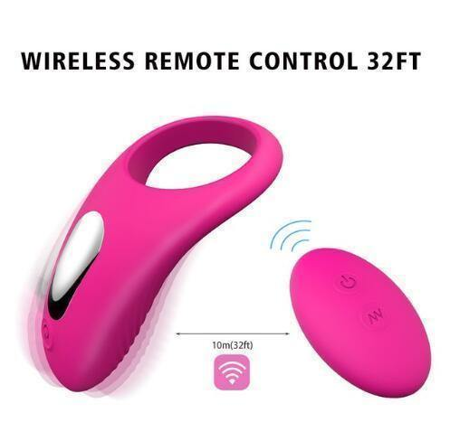 Wireless Remote Control Vibrator Penis Cover Cock Ring
