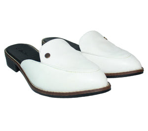 Cactus leather shoes - White Aurora