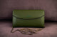 Cactus leather Clutch green