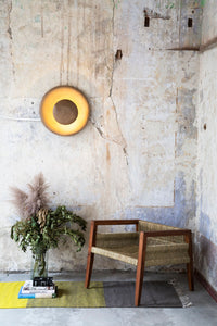 Floating lamp in natural burnished clay - Pulsar - ARTIGIANO