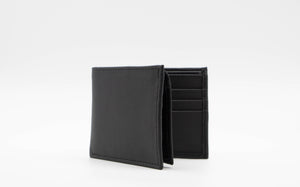 Vegan cactus leather Wallet Black - ARTIGIANO