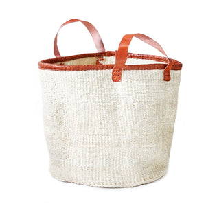 "Seasider 18"" Natural white SISAL Basket - ARTIGIANO"