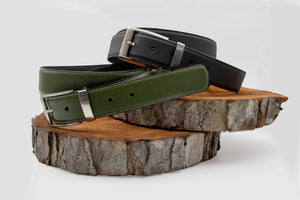 Vegan leather Pack two belts - ARTIGIANO