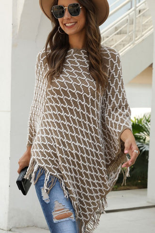 City Chic Poncho - Beige