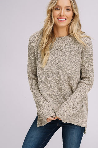Pullover Sweater - Light Olive