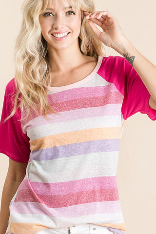 Rainbow Half Sleeve Top