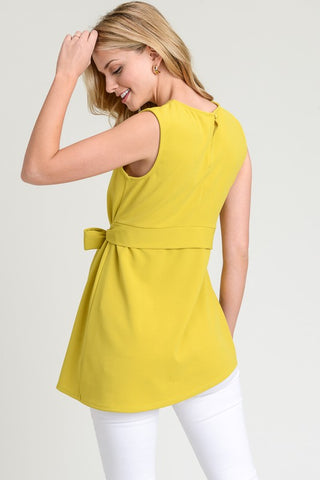 Sleeveless Sash Top - Mustard