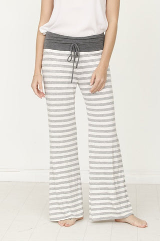 Striped Lounge Pants - Grey