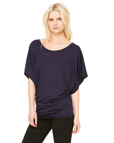 Flowy Dolman Top - Navy