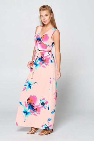 A Night in Maui Maxi Dress - Peach