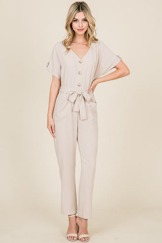 Sophisticated Jumpsuit - Natural