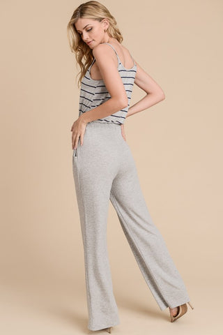 Striped Jumpsuit  - Navy