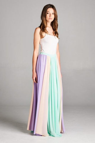 Twirlable Maxi Skirt - Mint