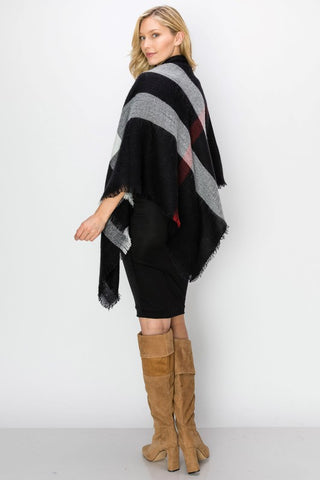 Dinner and a Show Plaid Scarf/Shawl - Black