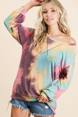 French Terry Tie Dye Sweatshirt