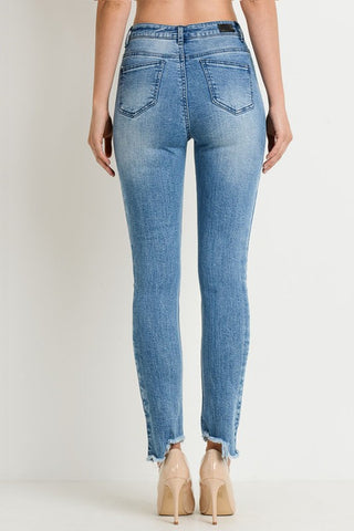 High Waisted Multi Colored Skinny Jeans