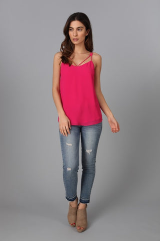 Strappy Tank Top - Pink Berry