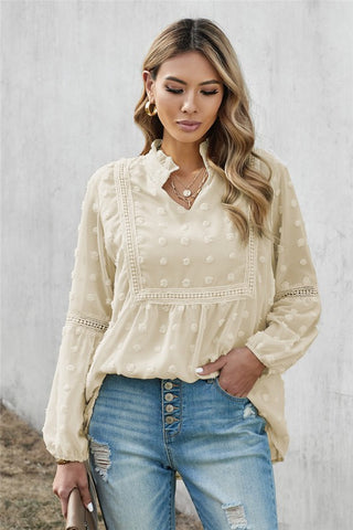 Boho Top - Off White - Ships Friday, January 29th