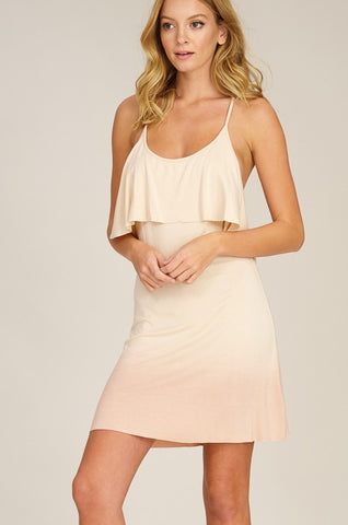 Ombré Knit Dress - Nude