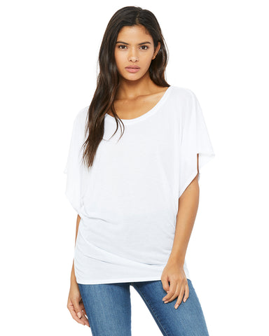 Flowy Dolman Top - White