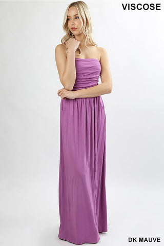 Strapless Maxi Dress - Mauve