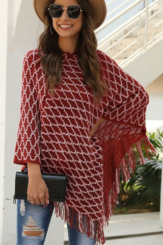 City Chic Poncho - Red