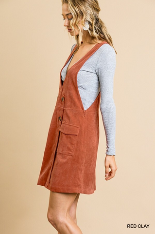 Corduroy Jumper - Red Clay