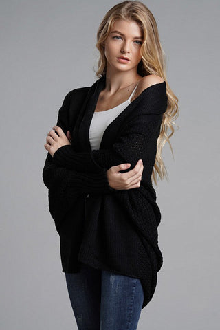 Cozy OSFA Cardigan - Black