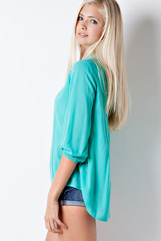 Flowy Lace Top - Jade - Blue Chic Boutique  - 5