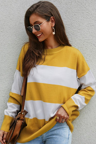 Striped Yellow Sweater