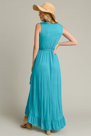 High Low Knit Dress - Jade