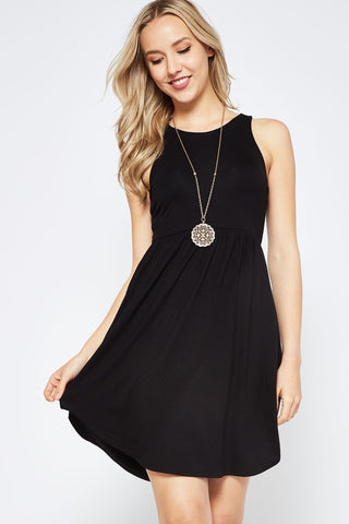 Simple Summer Dress - Black